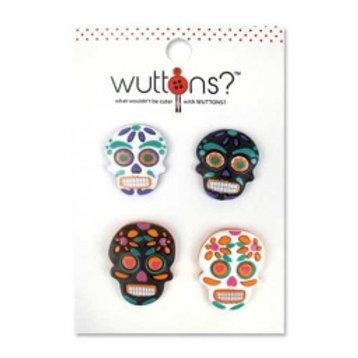 Wuttons Skulls Buttons