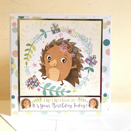 Happy Hedgehog Birthday Card