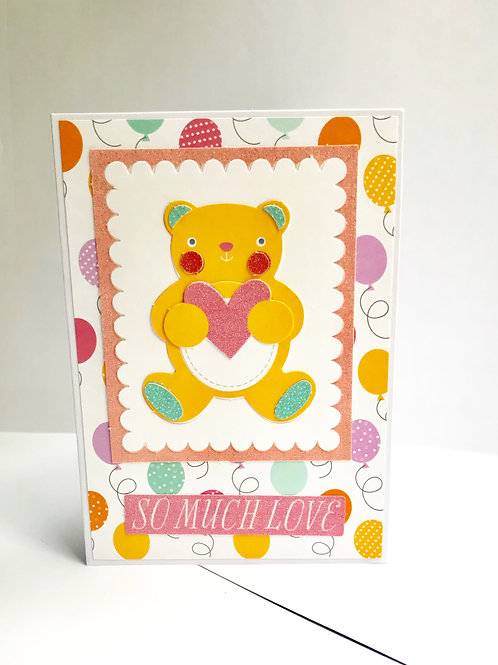 So Much Love Teddy Bear Card
