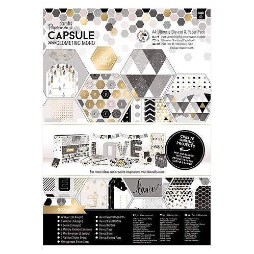 A4 Ultimate Die-cut & Paper Pack - Geometric Mono