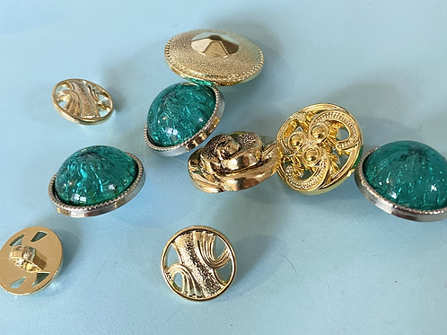 Green and Gold Buttons