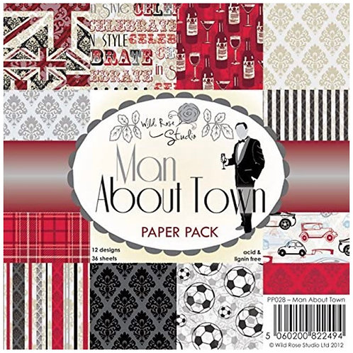 Man About Town 6x6 Paper Pack