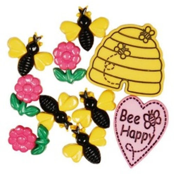 Favourite Finding Bee Happy Buttons