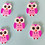 Thumbnail: Pack of 5 Owl Buttons - Pink