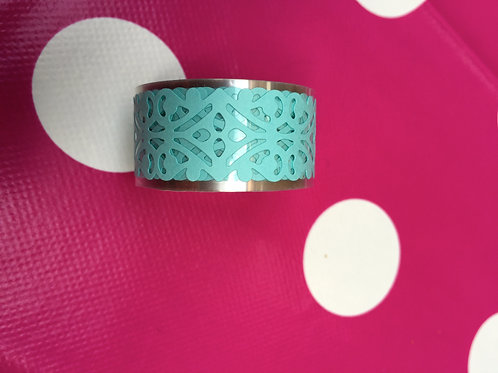 Pale Blue Lace Effect Tape