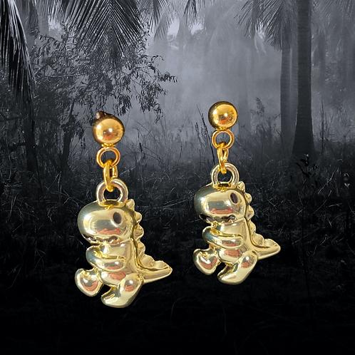 Golden Years Dino Earrings