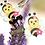 Thumbnail: Handmade Bumble Bee Hair clips