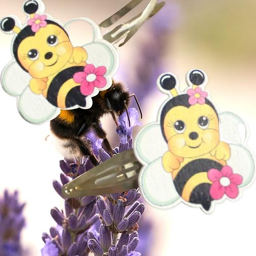 Handmade Bumble Bee Hair clips