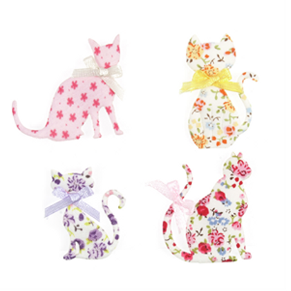 Fabric Cat Embellishments