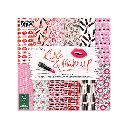 Dovecraft Kiss & Makeup 6 x 6 Paper Pack
