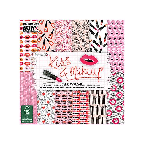Dovecraft Kiss & Makeup 6 x 6 Paper Pack