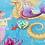 Thumbnail: Yellow Mermaid Heart - Pin Badge