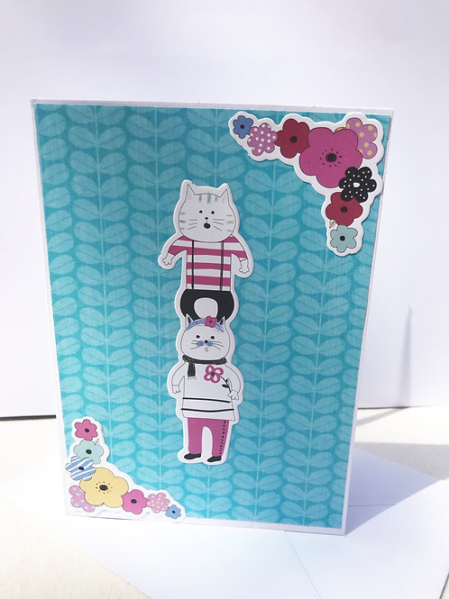 Quirky Cat Tower Card