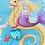 Thumbnail: Blue Mermaid Heart - Pin Badge
