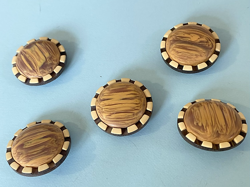 Retro Style Brown Buttons