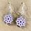 Thumbnail: Purple Snowflake Earrings