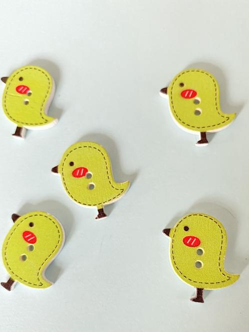 Green Bird Buttons