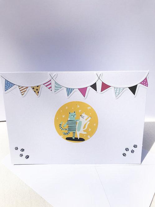 Dancing Cat Card