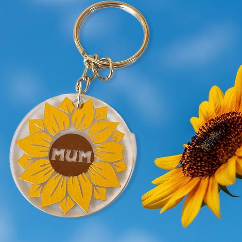 Sunflower Mum Keyring
