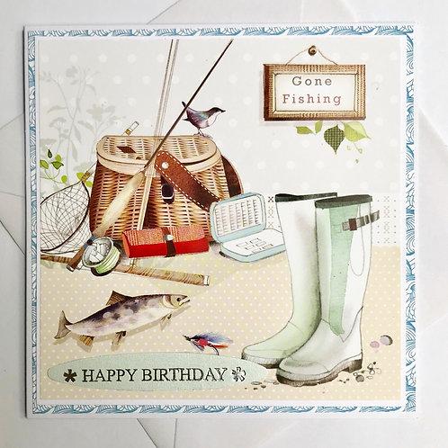 Gone Fishing Birthday Card