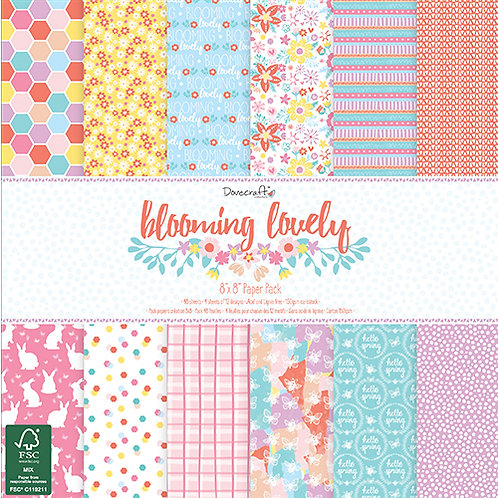 Dovecraft Blooming Lovely 8 x 8 paper pad
