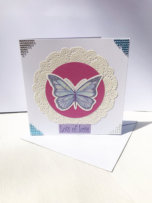 Lots of Love Butterfly Card