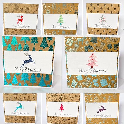 Trees & Reindeer Christmas Cards - Pack of 8