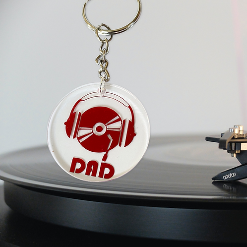 Headphones Dad Keyring - Father's Day