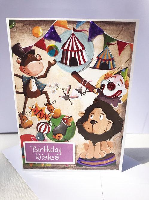 Circus Themed Birthday Card