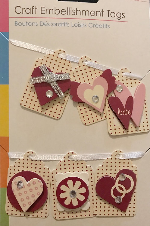 Love Theme Craft Tags