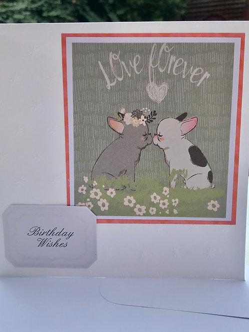 Love Forever French Bulldog Birthday Card