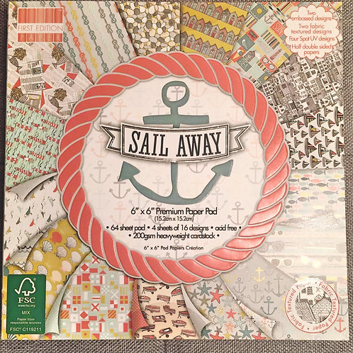 First Edition Sail Away 6x6 Paper Pad