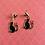 Thumbnail: Black Cat Love Earrings