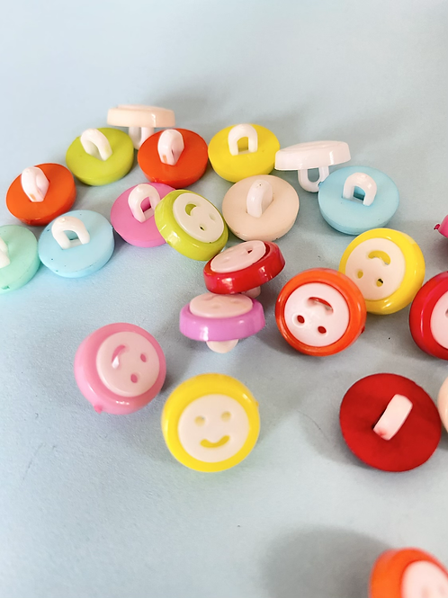 Round Smiley Face Buttons