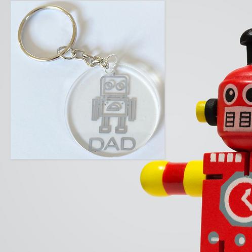 Robot Dad Keyring - Father's Day - Birthday