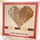 Thumbnail: Silver swirl origami heart Valentine's card