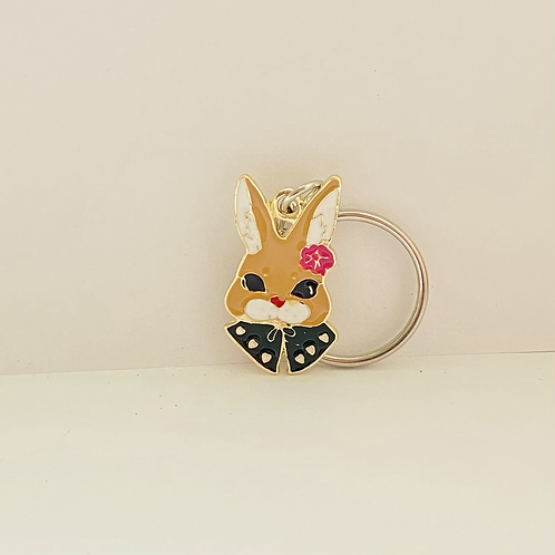 Beautiful Bunny Keyring