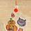 Thumbnail: Black Cat & Pumpkin Halloween Decorations