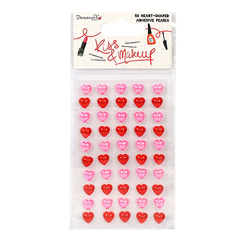 Dovecraft Kiss & Makeup Heart Pearls