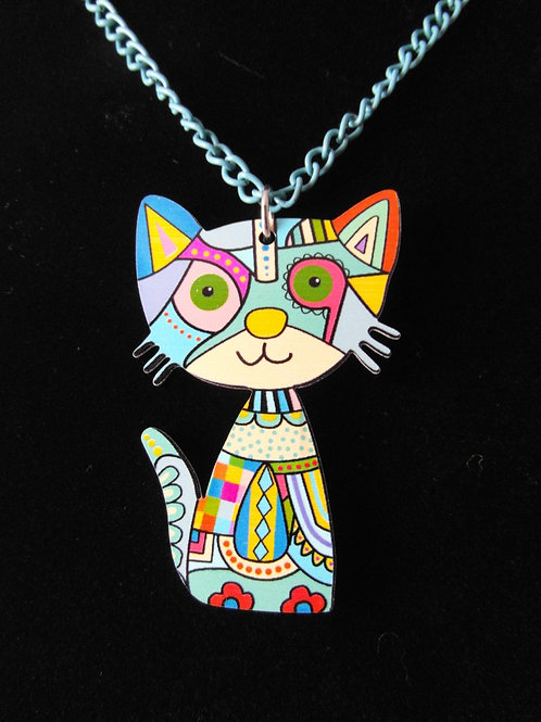 Blue Cat Blue Necklace