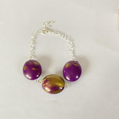 Purple & Gold Bracelet