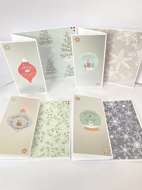 Pretty Christmas Cards (4pk)