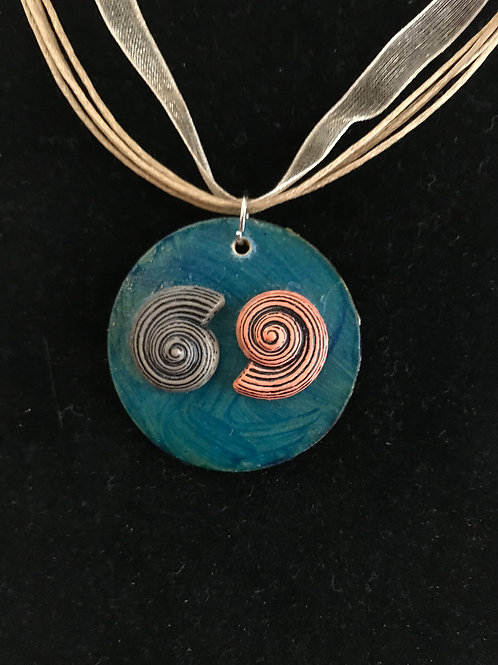 Beside the Sea - Spiral Shells Necklace