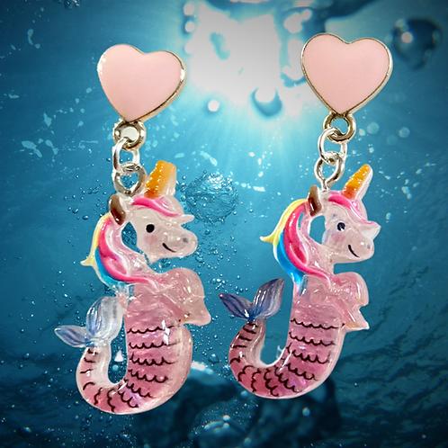 Seahorse Unicorn Earrings