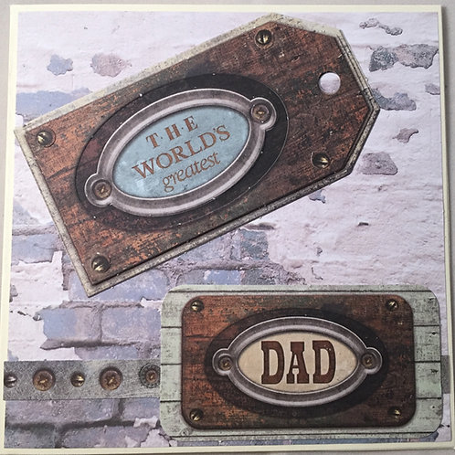 Worlds Greatest Dad - Father's Day/Birthday Card