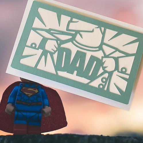 Secret Hero Dad card - Father's Day - Birthday