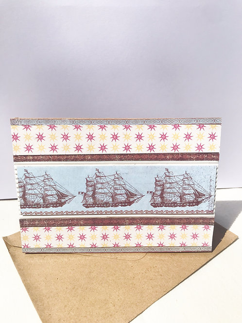 Sailing on the open seas card