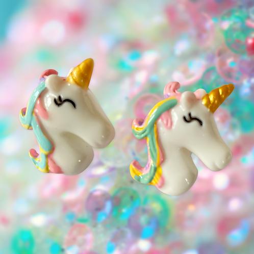 Large Unicorn Stud Earrings