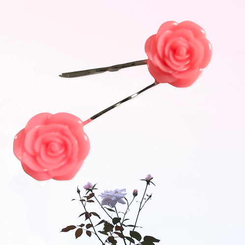 Rose Hair Grips