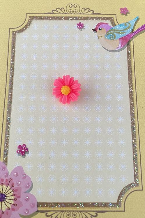 Pink Dainty Daisy - Pin Badge
